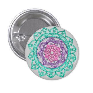 Poner a tierra el Pin de la mandala por Megaflora Pin Redondo 2,5 Cm