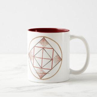 Poner a tierra la mandala taza de café