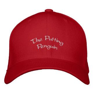 Poner el gorra del pingüino gorras bordadas