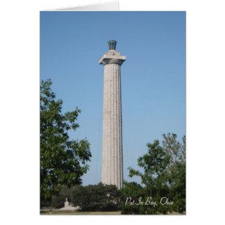 Poner-En-Bahía, Ohio, el monumento de Perry Tarjeta Pequeña