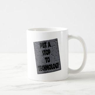PONER FIN A LA TECNOLOGÍA TAZA DE CAFÉ