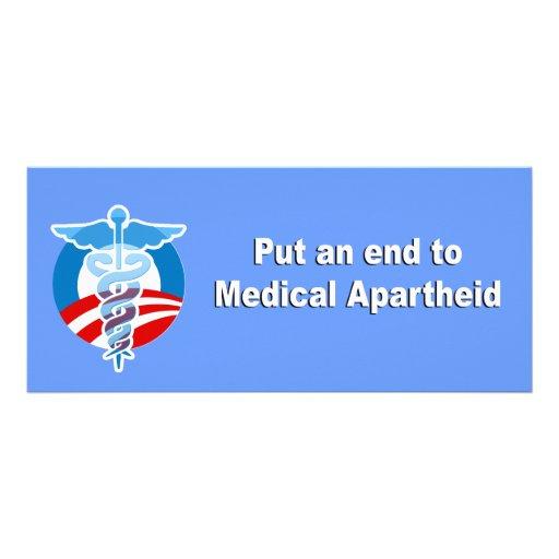 Poner fin al apartheid médico lona publicitaria