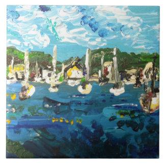 Poner-n-Bahía que pinta #1 Azulejo Cuadrado Grande