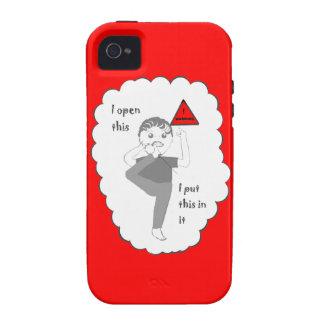 Poner su pie en productos del chiste de la boca vibe iPhone 4 fundas