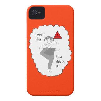 Poner su pie en productos del chiste de la boca Case-Mate iPhone 4 cárcasas