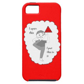 Poner su pie en productos del chiste de la boca iPhone 5 carcasa