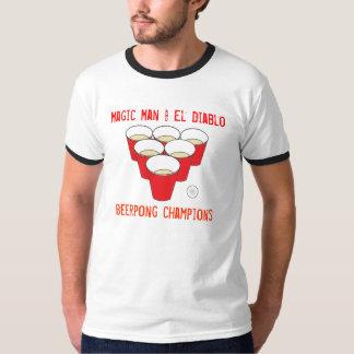 pong, Magic Man & El Diablo, Beerpong champions T-Shirt