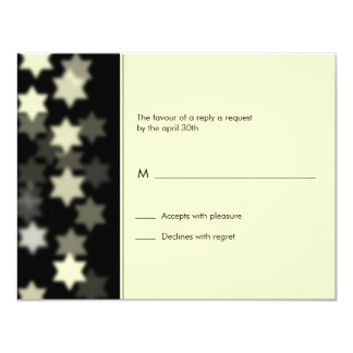 """Ponga de relieve la estrella de la barra de invitación 4.25"""" x 5.5"""""""