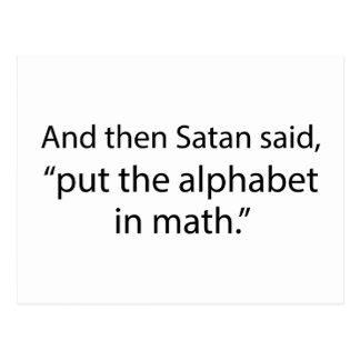 Ponga el alfabeto en matemáticas tarjeta postal