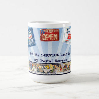 Ponga el servicio detrás en USPS Taza De Café