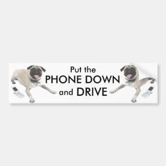 Ponga el teléfono abajo y conduzca pegatina para auto