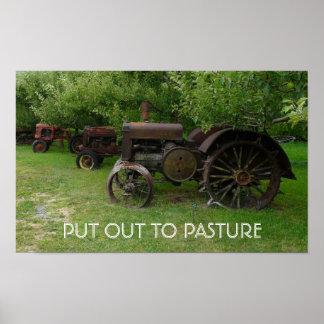 PONGA HACIA FUERA PARA PASTAR - los tractores anti Posters