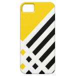Ponga la caja del iPhone de la marfil III (oro) iPhone 5 Cárcasas