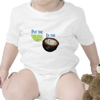 ¡Ponga la cal en el coco! Traje De Bebé