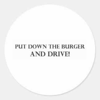 Ponga la hamburguesa y el Drive pdf en el suelo Etiquetas
