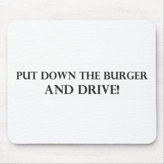 Ponga la hamburguesa y el Drive.pdf en el suelo Tapetes De Ratones