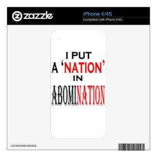 ponga la nación del aborrecimiento que nombra skins para iPhone 4S