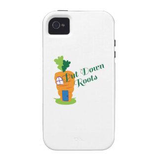 Ponga las raíces en el suelo iPhone 4/4S funda