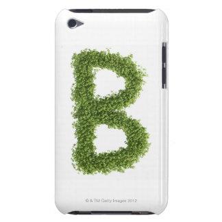 """Ponga letras a """"B"""" en berro en el fondo blanco, iPod Touch Case-Mate Funda"""