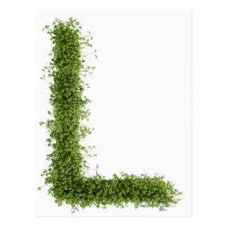 """Ponga letras a """"L"""" en berro en el fondo blanco, Tarjeta Postal"""