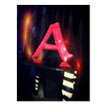 """Ponga letras a la postal de """"A"""""""