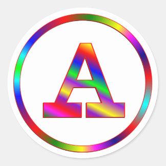 Ponga letras a un arco iris etiquetas