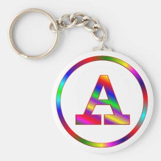 Ponga letras a un arco iris llavero