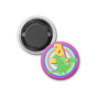 Ponga letras a un dragón verde imanes de nevera