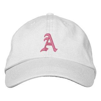 Ponga letras a un gorra bordado monograma gorra de béisbol bordada