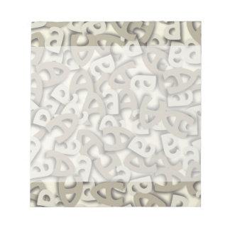 Ponga letras a un gris bloc