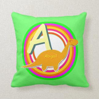 Ponga letras a un nombre de ABC Abigail del alfabe Almohada