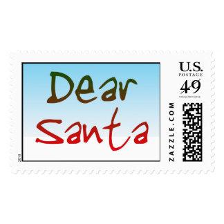 Ponga letras al franqueo USPS de la tarjeta de Sello Postal