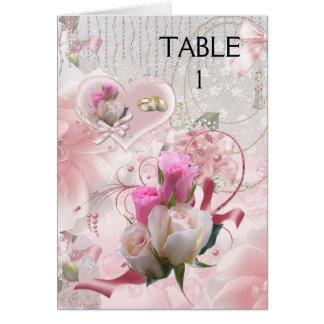 Ponga los anillos rosados de las flores de las tarjeta pequeña