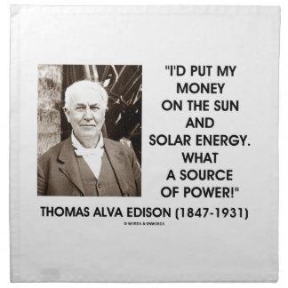 Ponga mi dinero en la fuente de energía solar de S Servilletas