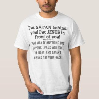 ¡Ponga SATAN detrás de usted! ¡Ponga a JESÚS Poleras