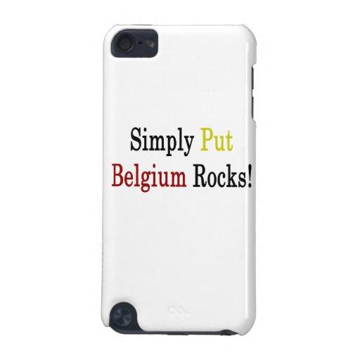 Ponga simplemente las rocas de Bélgica