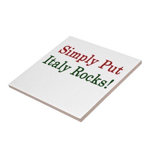 Ponga simplemente las rocas de Italia Azulejo Cuadrado Pequeño