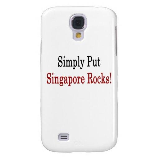 Ponga simplemente las rocas de Singapur