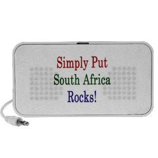 Ponga simplemente las rocas de Suráfrica iPhone Altavoces