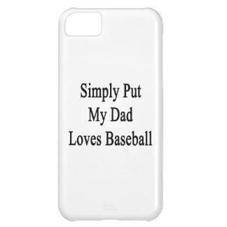 Ponga simplemente mi béisbol de los amores del pap