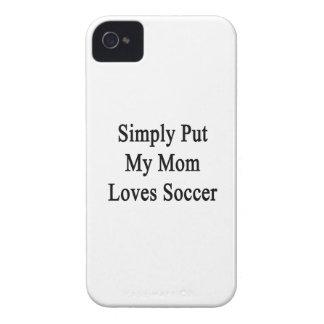 Ponga simplemente mi fútbol de los amores de la ma Case-Mate iPhone 4 cobertura