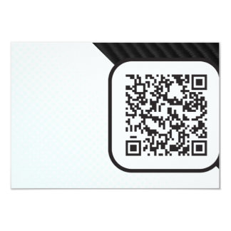"""Ponga su código Scannable de QR en éstos Invitación 3.5"""" X 5"""""""