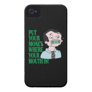Ponga su dinero iPhone 4 cárcasas