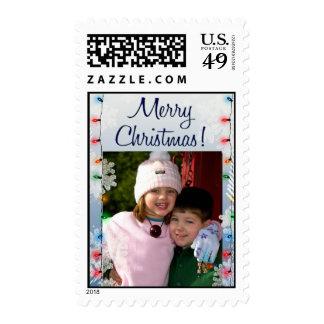 ¡Ponga su foto de los niños en un sello del navida