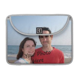 Ponga su foto en un ordenador portátil funda para macbook pro