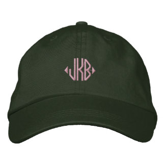 Ponga su monograma en un casquillo gorra de beisbol