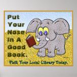 Ponga su nariz en un buen libro posters