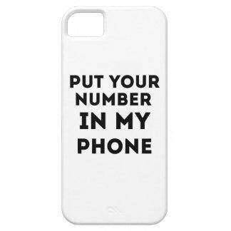 Ponga su número en mi teléfono iPhone 5 carcasas