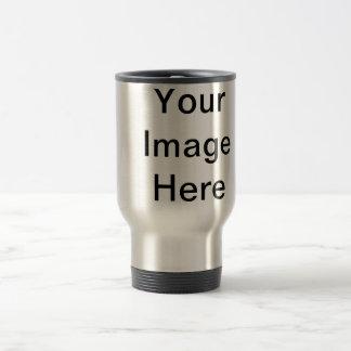 ¡Ponga su propia imagen aquí! Plantilla adaptable Taza De Viaje De Acero Inoxidable