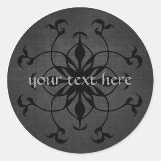 Ponga su texto en estos pegatinas góticos magnífic etiqueta redonda